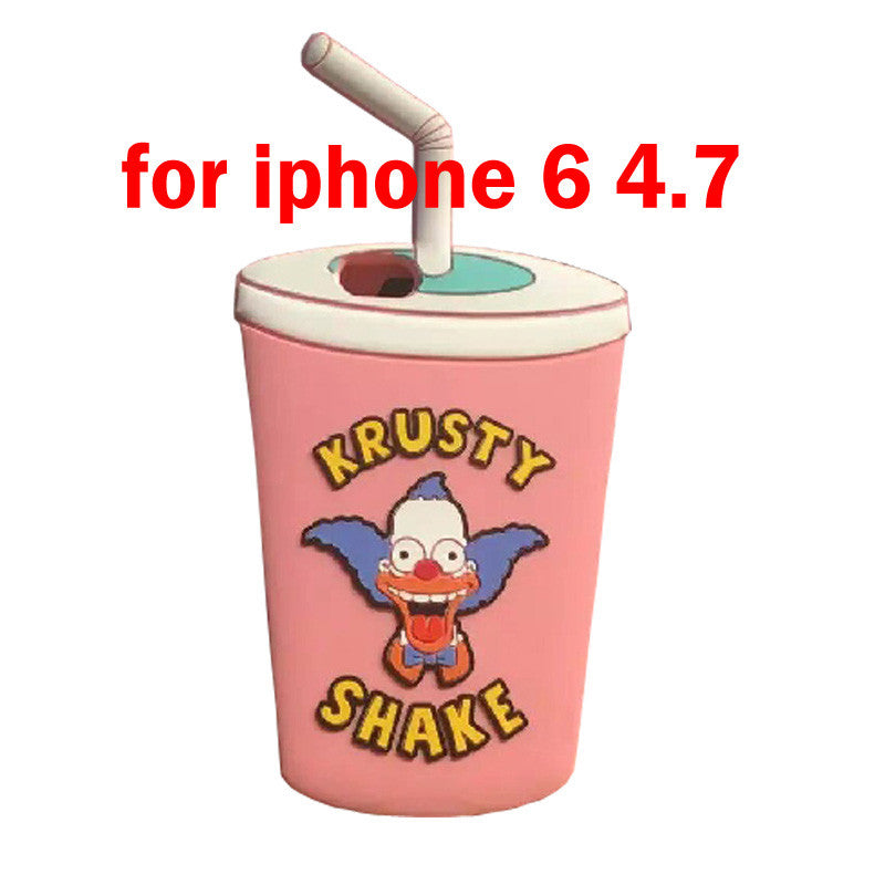 Clown Krusty Shake Silicone Case for iPhone - Bestshopup