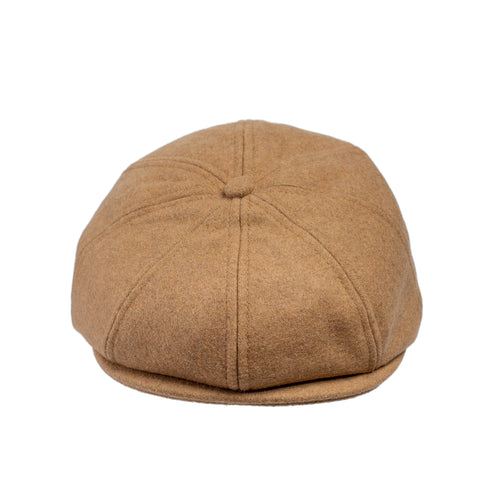 Knuckleheads Tan Wool Newsboy Baby Boy Jeff Hat Vintage Tweed Flat Pageboy Kid Gatsby Cap
