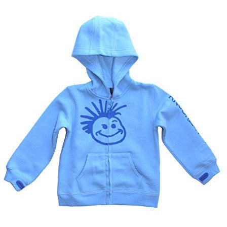 Knuckleheads Blue Hooded Sweatshirt with Thumb Holes