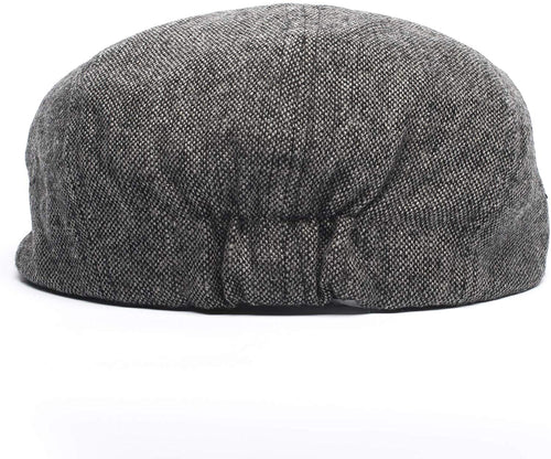 Born to Love Baby Boy Jeff Hat Vintage Driver Tweed Flat Pageboy Kid Gatsby Cap (XL 56cm (6-8 yrs), Grey and Black)