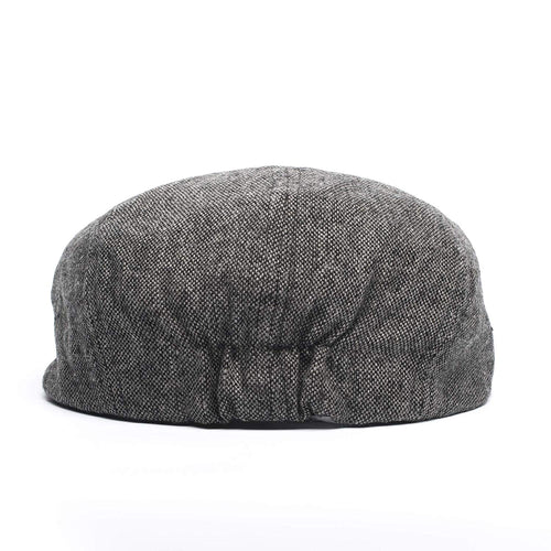 Born to Love Baby Boy Jeff Hat Vintage Driver Tweed Flat Pageboy Kid Gatsby Cap (L 54cm (4-5 yrs), Grey and Black)