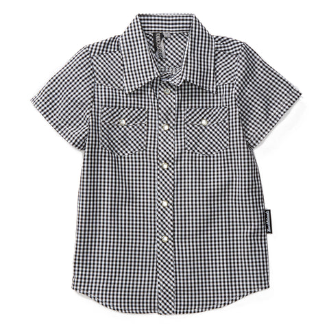 Knuckleheads Western Style Gingham Baby Kids Shirt