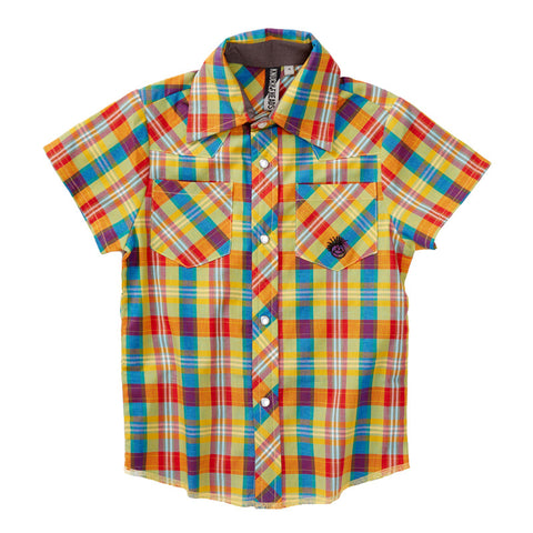 Knuckleheads Spring Plaid Rockabilly Shirt