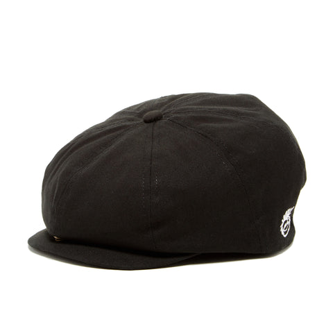 Knuckleheads Black Newsboy Cap