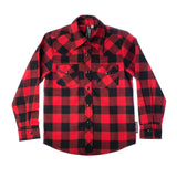 Red & Black Knuckleheads Long Sleeve Plaid Rockabilly Shirt
