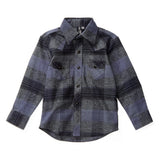 Somedays Grey Knuckleheads Long Sleeve Plaid Rockabilly Shirt