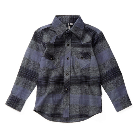 Colonel Grey Knuckleheads Long Sleeve Plaid Rockabilly Shirt
