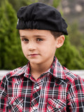Knuckleheads Black Newsboy Cap For Toddlers