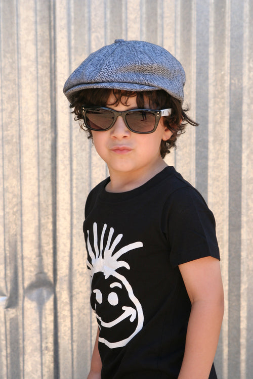 Knuckleheads Bradley Newsboy Grey Cap For Children