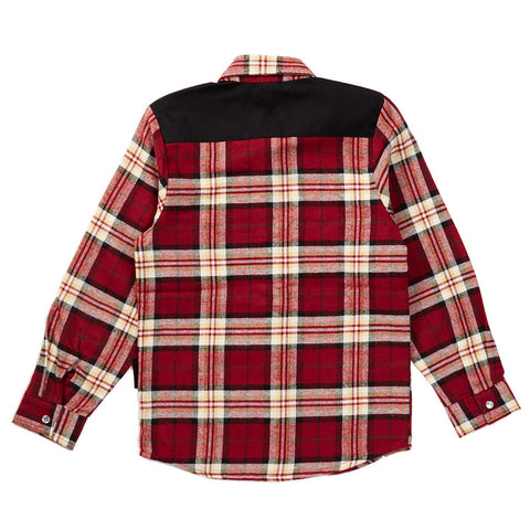 Knuckleheads Rusty Long Sleeve Red Flannel Plaid Shirt