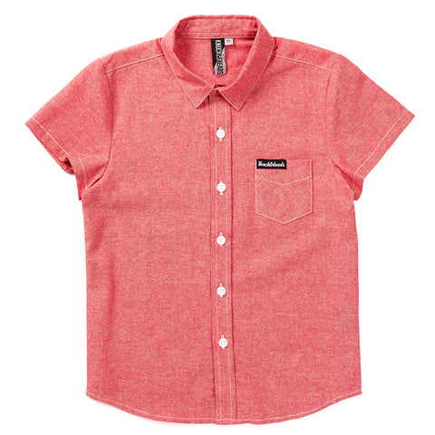 Knuckleheads Coral Rockabilly Shirt