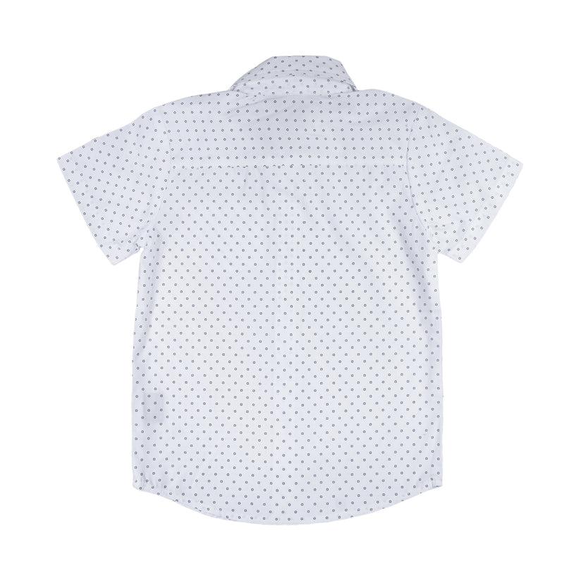 Knuckleheads On Point - White & Navy Rockabilly Shirt