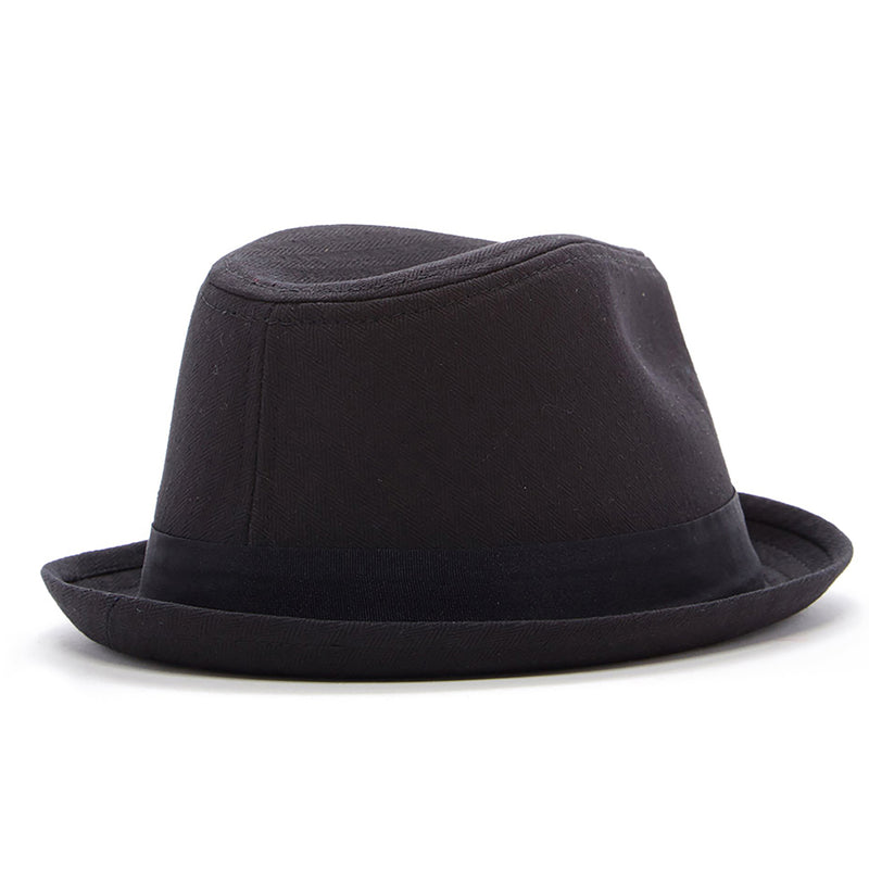 Knuckleheads Black Fedora with Black Band
