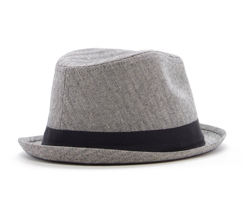 Knuckleheads Grey Herringbone Fedora