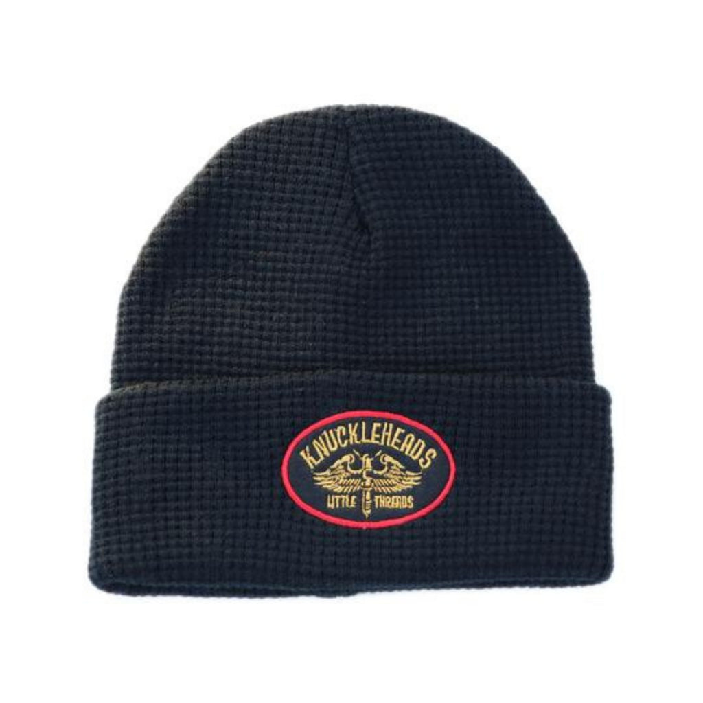 Knuckleheads Black Fold-Up Beanie For Children