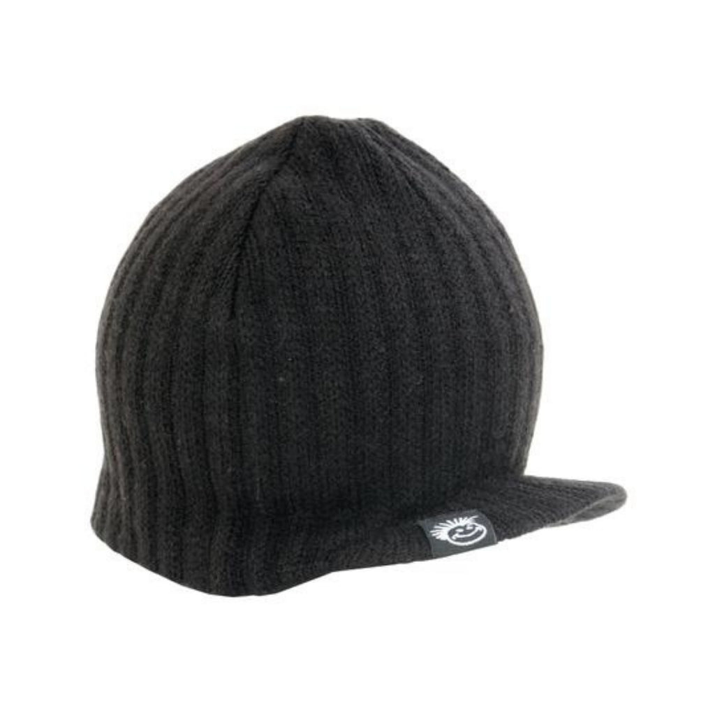 Knuckleheads Black Visor Beanie w Tag For Kids