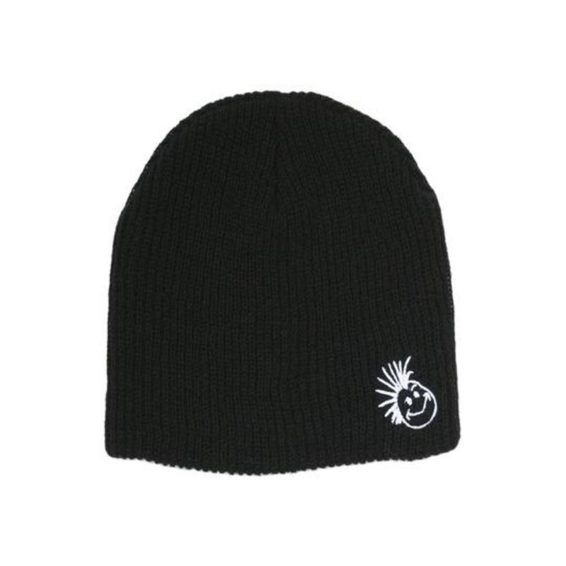 Knuckleheads Black with Logo Slouchy Beanie