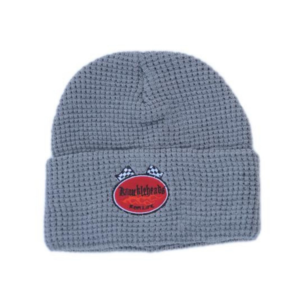 Knuckleheads Grey Fold-Up Beanie For Boys