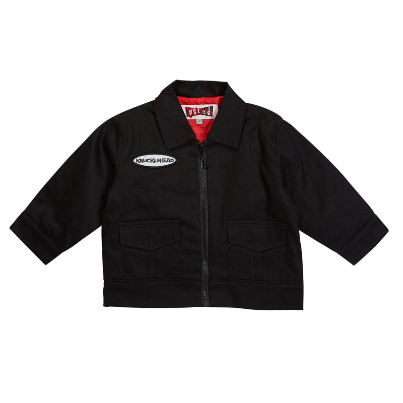 Black Knuckleheads Mechanic Jacket with Long Sleeves