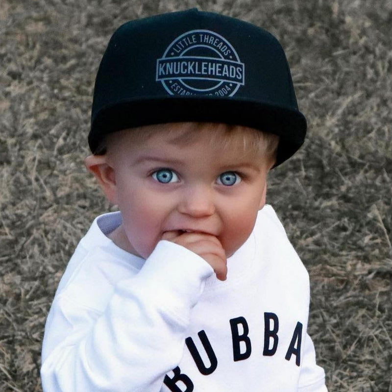 One Day Grey Knuckleheads Trucker Hat for Infant Toddler Youth snapback flat bill
