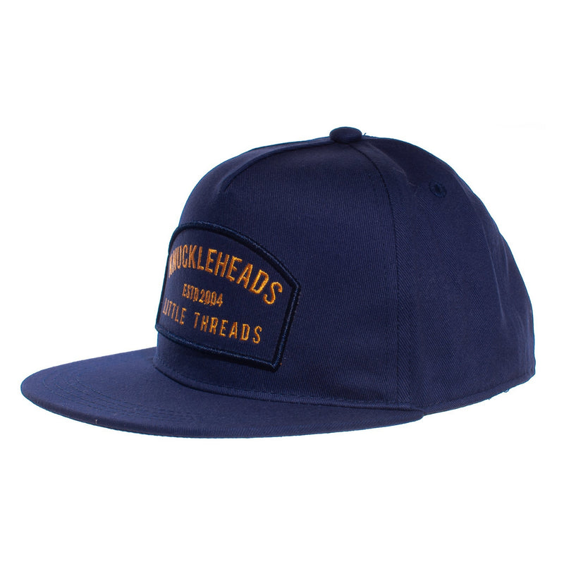 Orange Navy Patch Knuckleheads Trucker Hat snapback flat bill