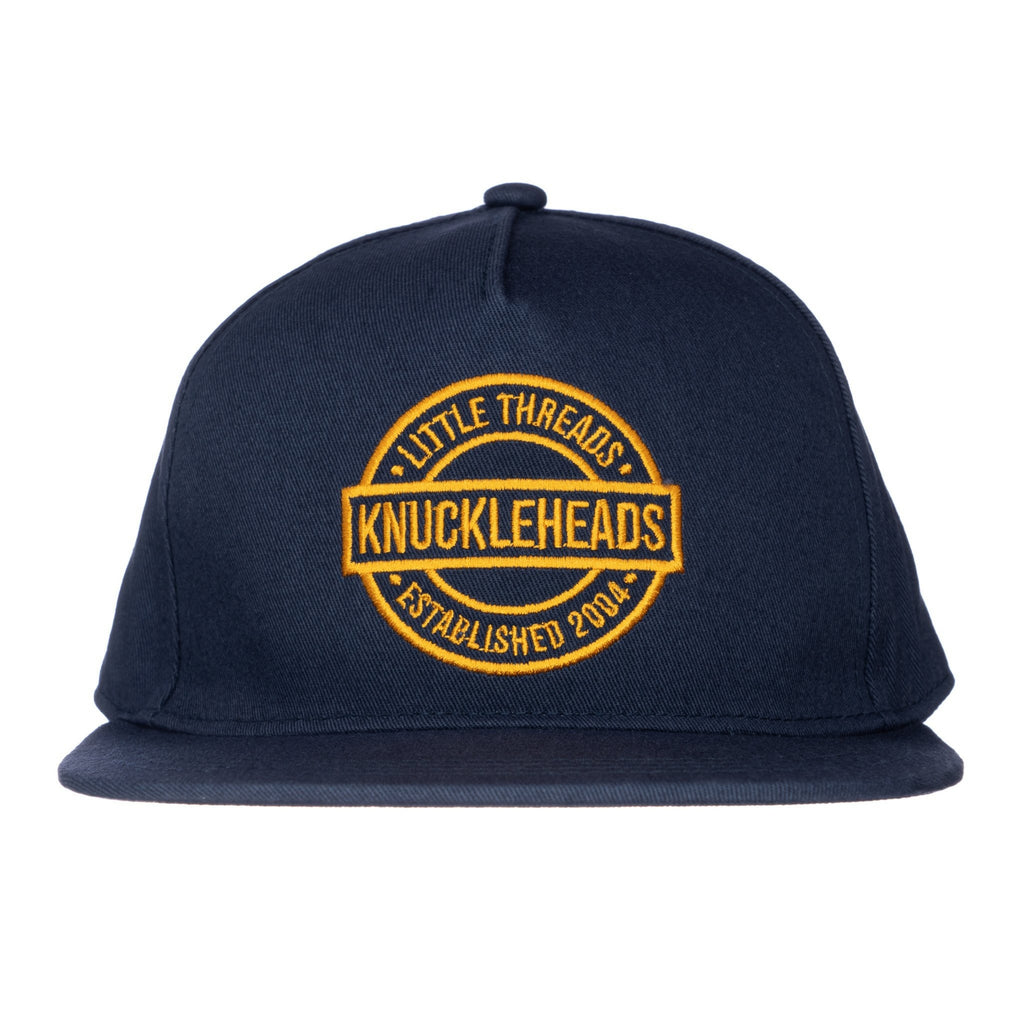 One Day Navy Knuckleheads Baby Boy Infant Trucker Hat Sun Mesh Baseball Cap snapback flat bill