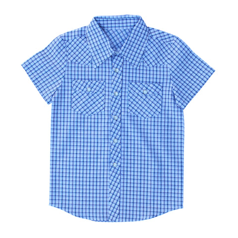 Knuckleheads Clothing Reno Plaid Button Down Short Sleeve Kids Boy Shirt