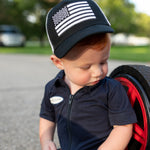 USA Flag White Mesh Knuckleheads Baby Boy Infant Trucker Hat Sun Mesh Baseball Cap snapback flat bill