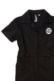 Knuckleheads Girl`s Black Grease Monkey Coverall