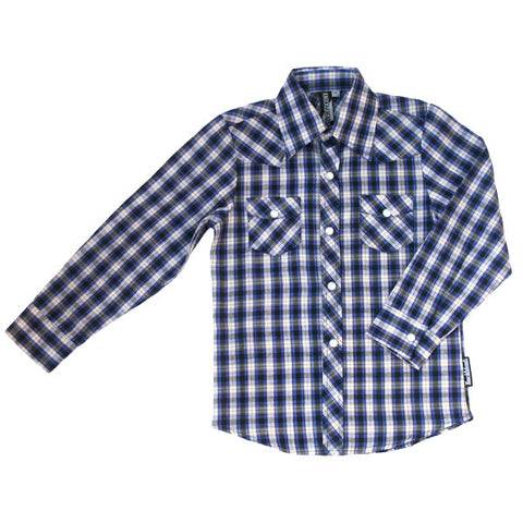 Knuckleheads Clothing Cash Plaid Button Down Short Sleeve Kids Boy Shirt