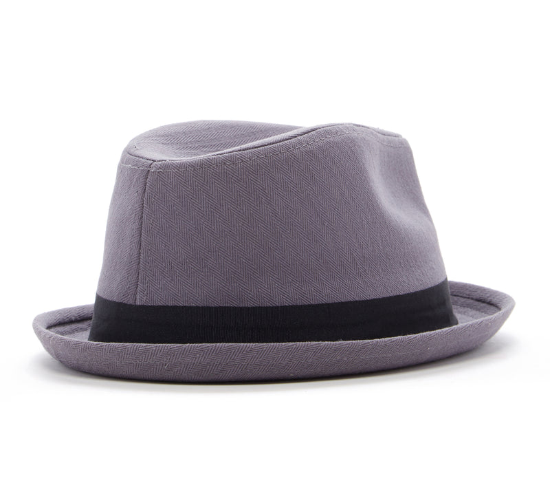 Knuckleheads Grey Fedora with Black Band