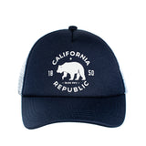 Knuckleheads Cali Rep Navy White Baby Boy Infant Trucker Hat Snap Back Sun Mesh Baseball Cap