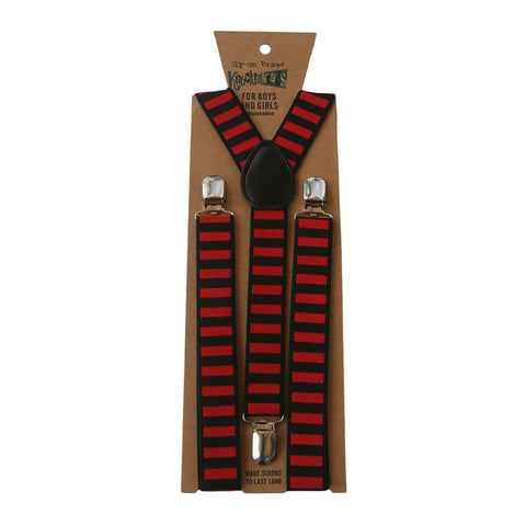 Black and Red Stripes - Suspenders