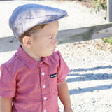 Grey Knuckleheads Pierce Flat Cap For Kids