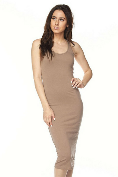 Midi Bodycon Dress (Mocha)