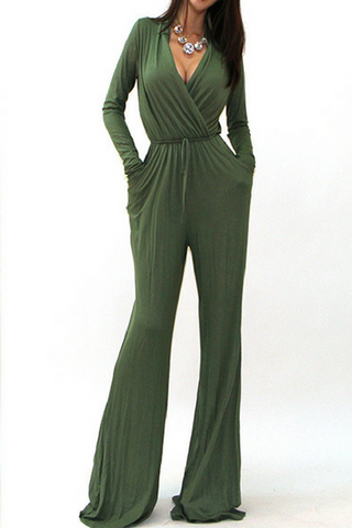 Wide Leg Jumpsuit (Olive)