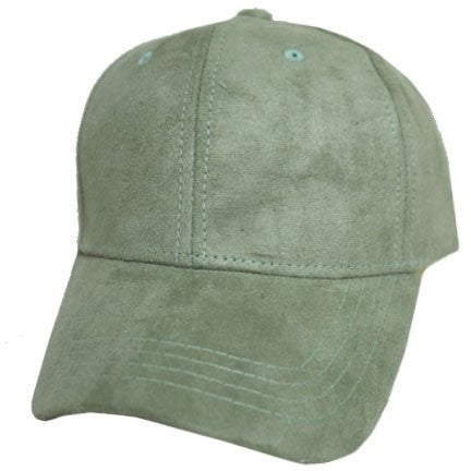 Suede (faux) Hat- Light Olive
