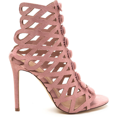 Tisha Caged Bootie (Blush)