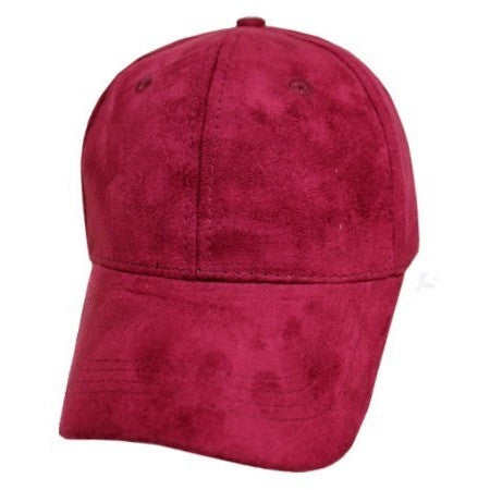 Suede (faux) Hat- Burgundy