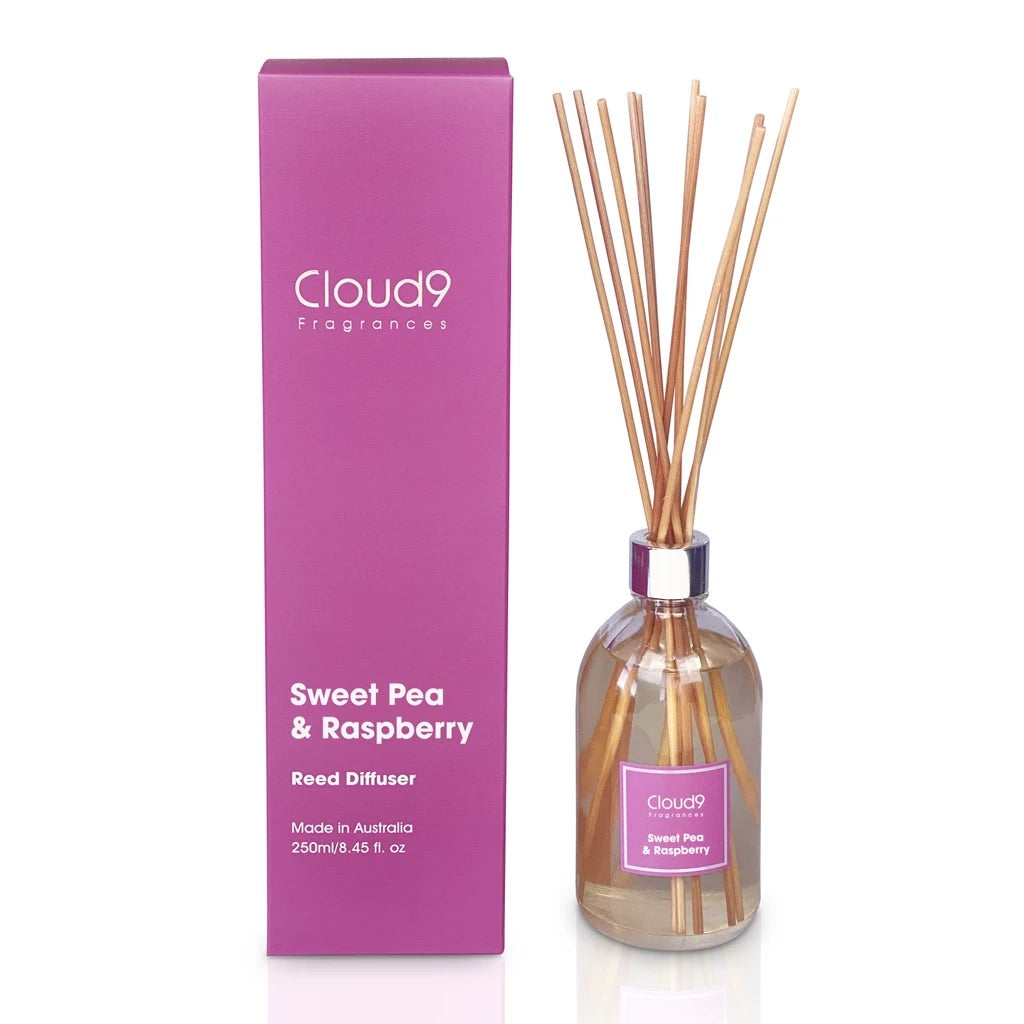 REED DIFFUSER - SWEET PEA + RASBERRY