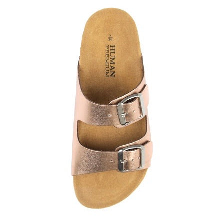LAKEN SLIDES - ROSE GOLD