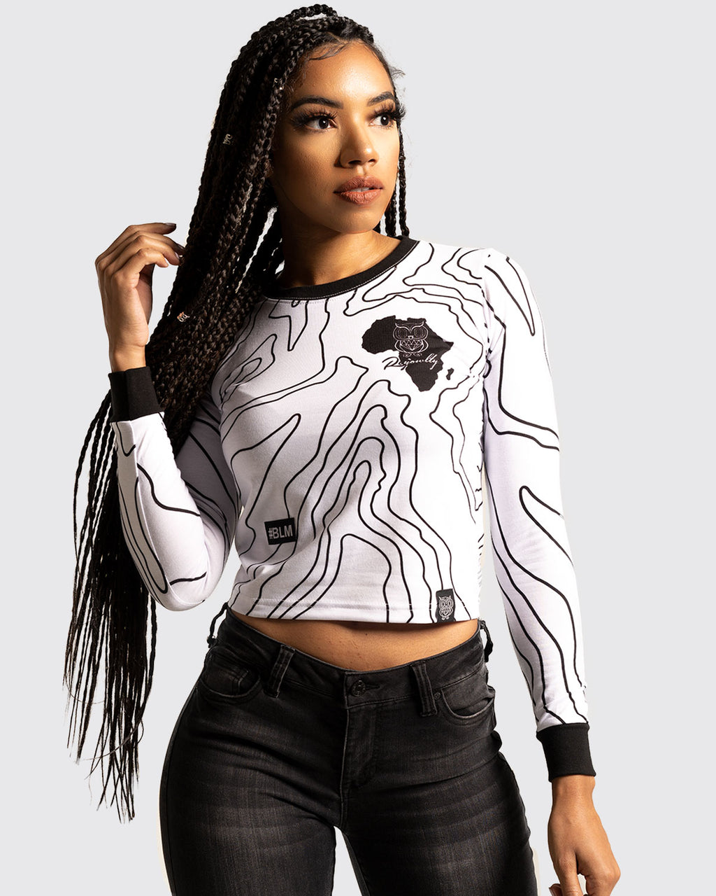The Ancients Crop top (Black Lives Matter)-White