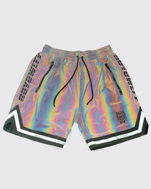 Men Rainbow Reflective Shorts
