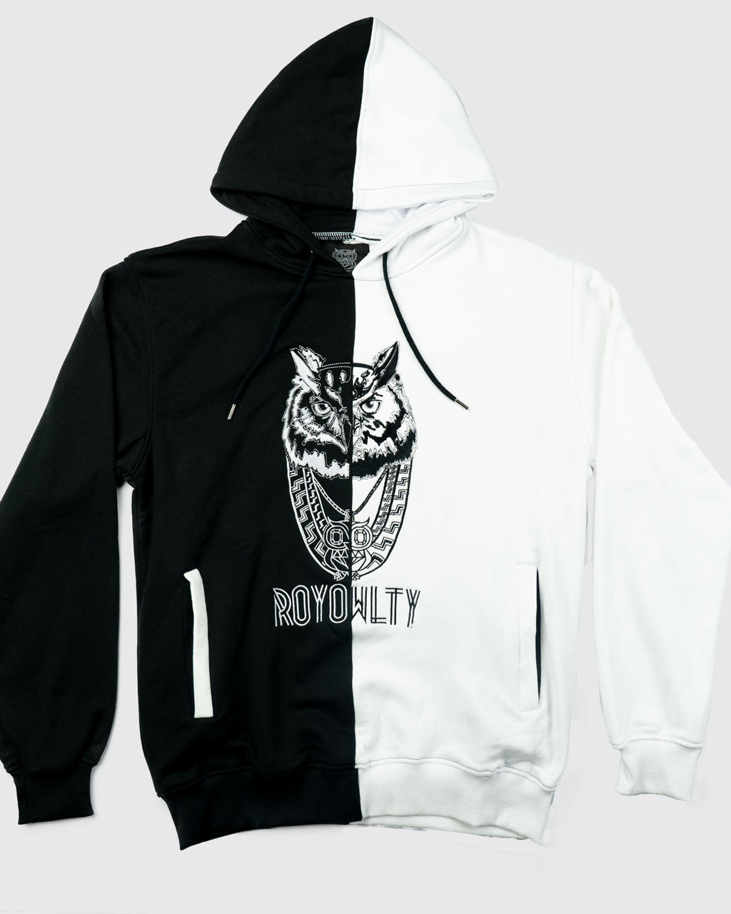OWL PENDANT sweater(black/white)