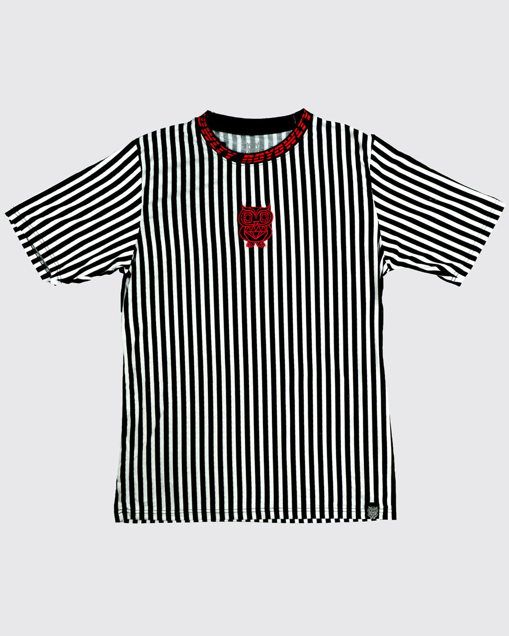 Striped Tee with neck print