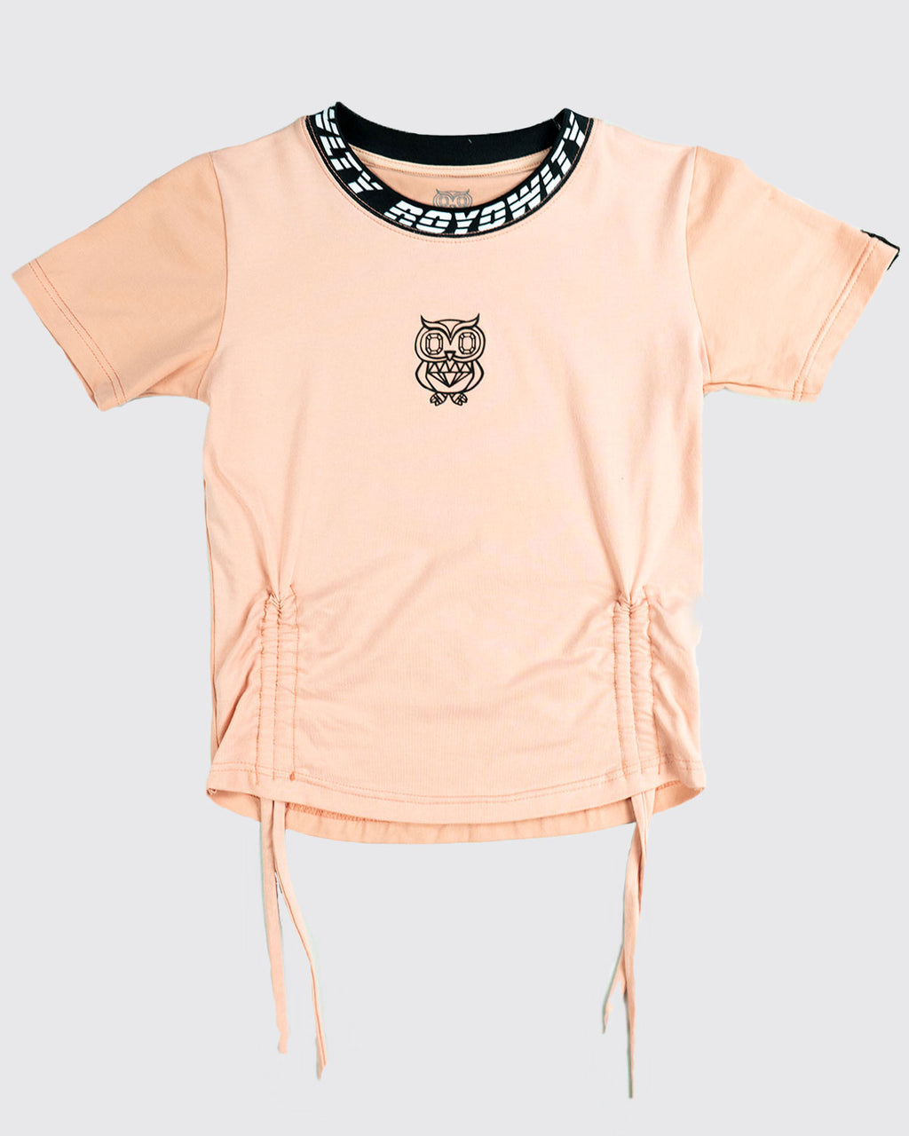 Neck print Logo Crop Tee with 3D logo -Short sleeve