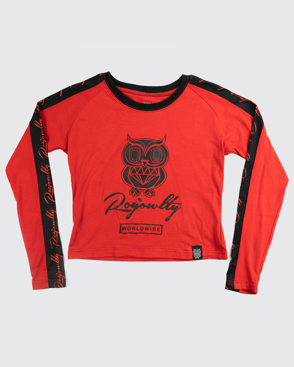 Originals Crop Top(long sleeve)- Red