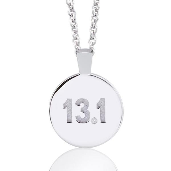 Diamond Half Marathon Necklace 13.1