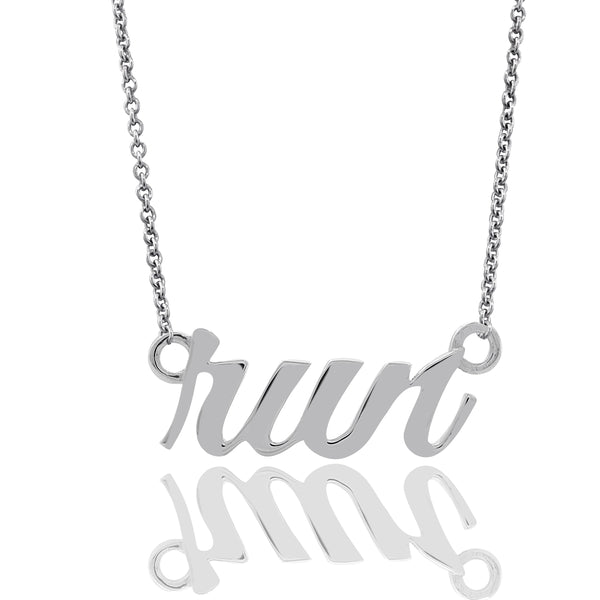 Cursive Run Necklace
