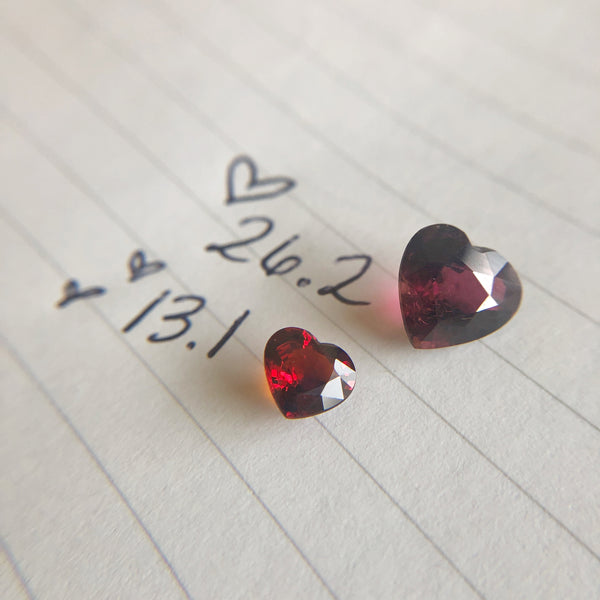 1.31 carat Heart Shaped Garnet - Custom Designed Piece